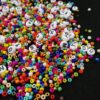 5000Pcs Beads Kit, 3mm Glass Seed Beads, Alphabet Letter Beads and Heart Shape Beads for Name Bracelets Jewelry Making and Craft