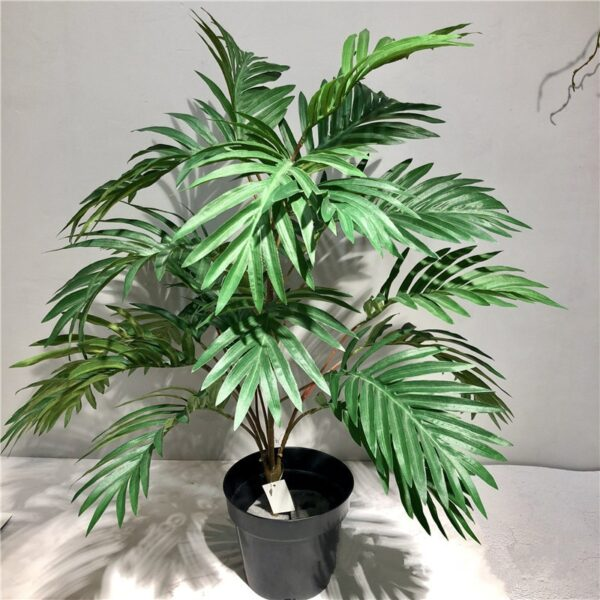 70cm Artificial Realistic Green Plants Rare Palm Tree Branch Tropical Fake Theme Tree Silk Leaf Potted Hotel Office Home Deco