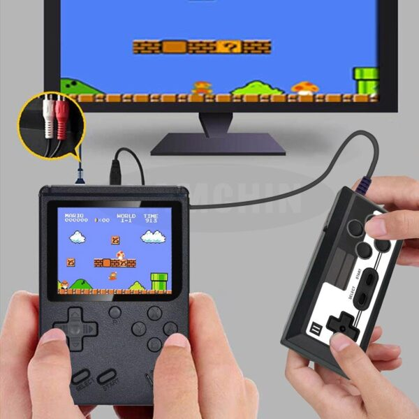 500 IN 1 Retro Video Game Console Handheld Game Portable Pocket Game Console Mini Handheld Player for Kids Gift