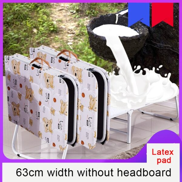 Portable Folding Lounge Chair Home Multifunctional Office Nap Bed Outdoor Beach Bed Heavy Duty Recliner Breathable Comfortable