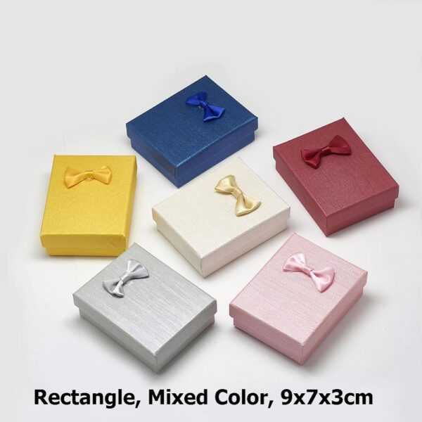 12pcs Cardboard Jewelry Set Gift Box Ring Necklace Bracelets Earring Gift Packaging Boxes With Sponge Inside Rectangle