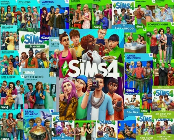 The Sims 4 PC and ALL EXPANSIONS, STUFF PACKS, DLC including New Star Wars Pack